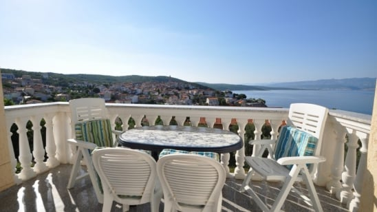 Apartment Zlatko with panoramic sea view – Vrbnik – Island Krk–Croatia