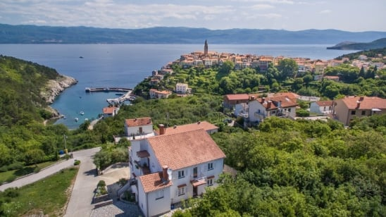 Apartment Katica 1 with panoramic sea view – Vrbnik-Island Krk –Croatia