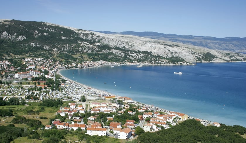 Panoramic photo of Baška