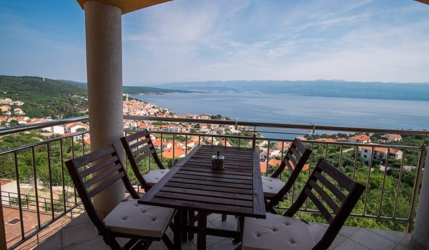 Apartment Goga with panoramic sea view – Vrbnik – Island Krk – Croatia