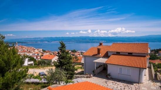 Monolocale Višnja 2 con vista mare panoramica–Vrbnik-isola di Krk–Croazia