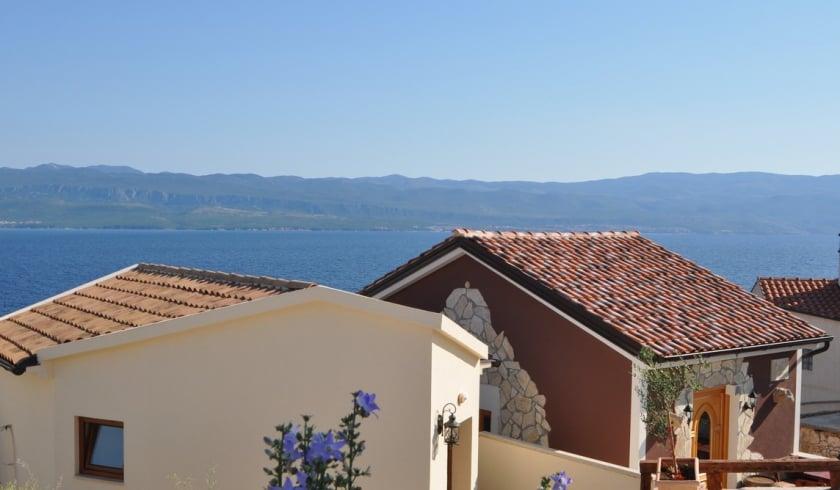 Villa Nautilus with panoramic sea view – Vrbnik – Island Krk – Croatia