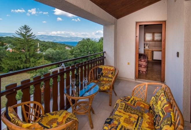 Apartment Merica in quiet position– Risika – Island Krk – Croatia