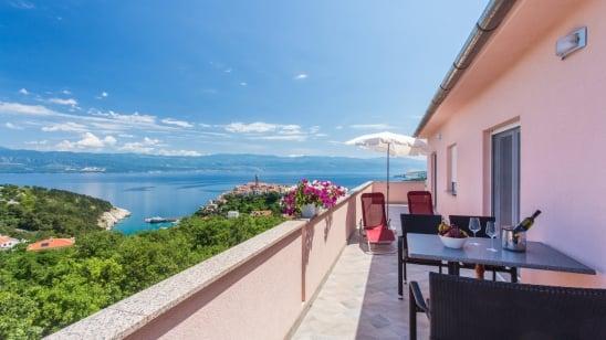 Apartment Ane 2 with panoramic sea view – Vrbnik – Island Krk – Croatia