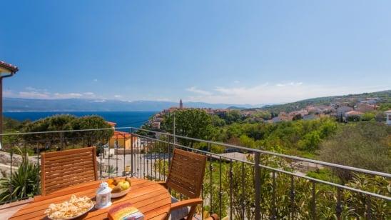 FeWo Ulikva 2 mit Panorama Meerblick –Vrbnik – Insel Krk – Kroatien