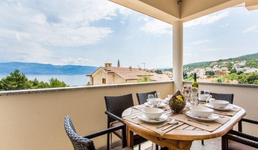 Apartment Eli 3 with sea view – Vrbnik – Island Krk – Croatia