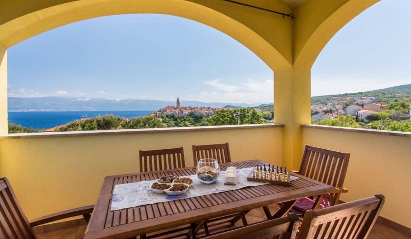 Apartment Ulikva 1 with panoramic sea view – Vrbnik – Island Krk – Croatia