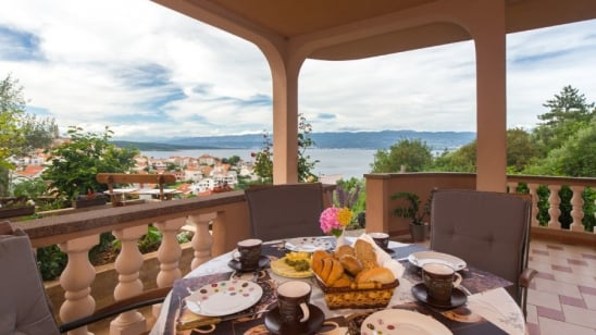 Apartment Balara 1 with panoramic sea view – Vrbnik–Island Krk-Croatia
