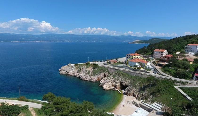 Apartment Danica 1 near beach – Vrbnik – Island Krk – Croatia