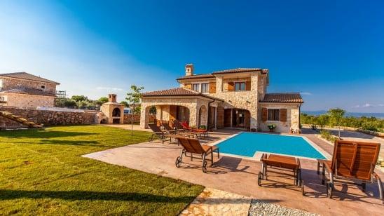 Villa Mare s bazenom – Vrh – Otok Krk-Hrvatska