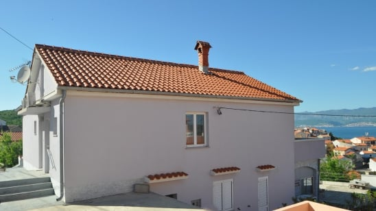 Appartamento Vjeko 2 con vista mare–Vrbnik-isola di Krk–Croazia
