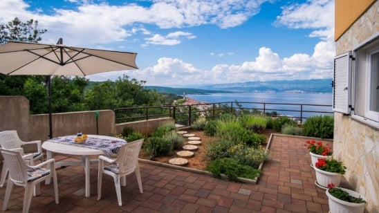 Apartment Mema with panoramic sea view – Vrbnik – Island Krk – Croatia