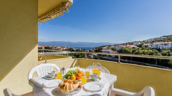 Appartamento Dora con vista mare –Vrbnik-isola di Krk–Croazia