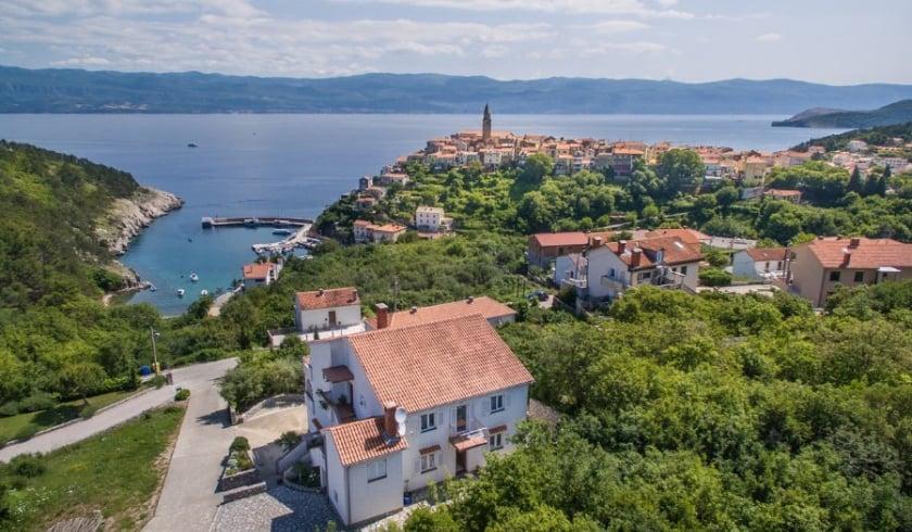 Apartment Katica 2 with panoramic sea view – Vrbnik-Island Krk –Croatia