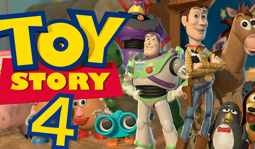 Cinema Projection Of The Animated Movie Toy Story 4