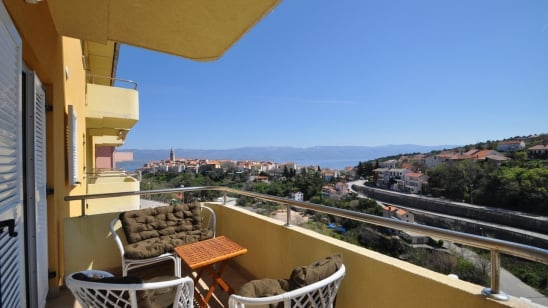 Apartment Clea with sea view – Vrbnik – Island Krk–Croatia