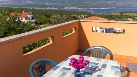 Apartment David 1 with panoramic sea view – Risika – Island Krk – Croatia