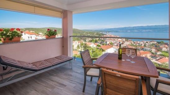 Apartment Una with panoramic sea view – Vrbnik-Island Krk –Croatia