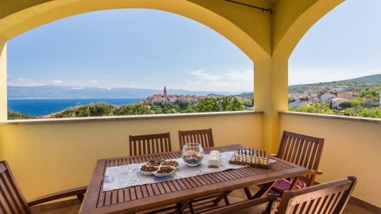 Apartment Ulikva 1 with panoramic sea view – Vrbnik – Island Krk – Croatia