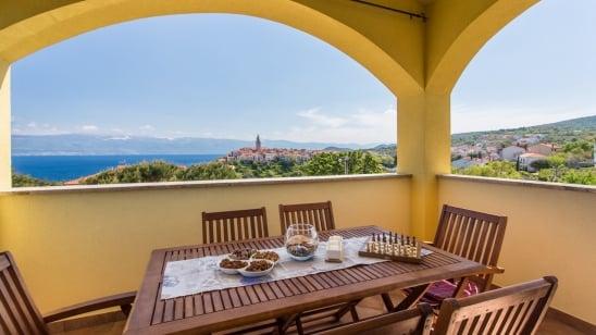 FeWo Ulikva 1 mit Panorama Meerblick –Vrbnik – Insel Krk – Kroatien