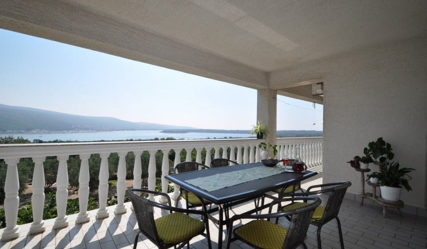 Apartment Lokvić with panoramic sea view - Kornić–Island Krk–Croatia
